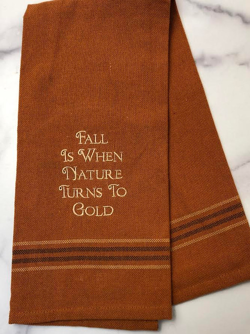Fall Turns to Gold Towel