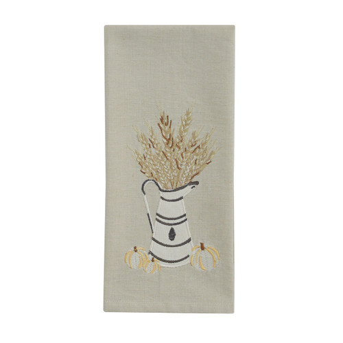 White and Wheat Dish Towel