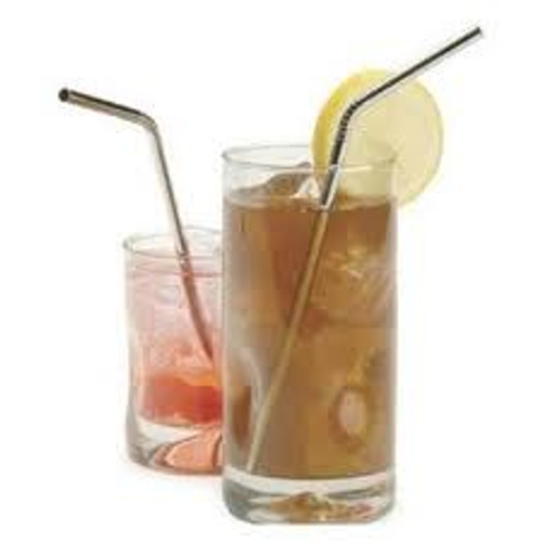 Stainless Steel Bent Straws - 2 Pack