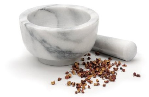 White Marble Mortar & Pestle
