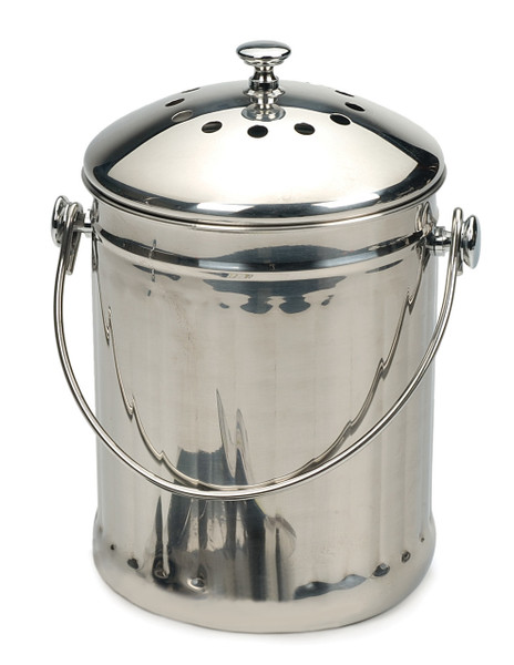 Stainless Steel Compost Pail - Half Gallon