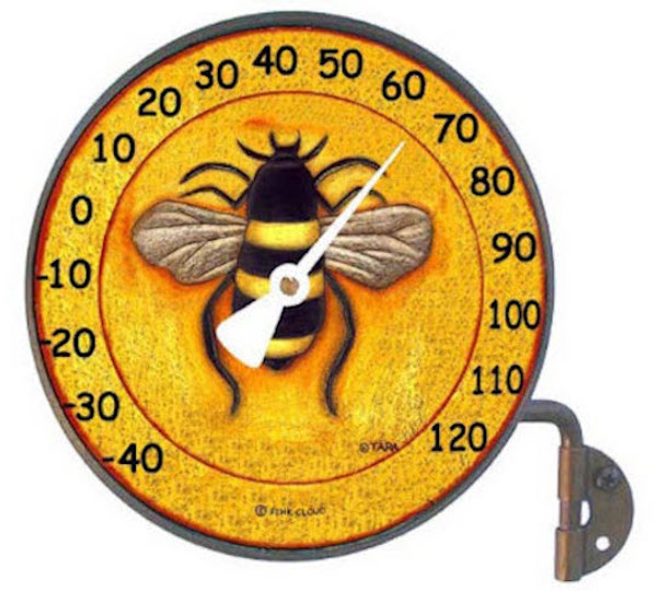 Solid Copper Indoor/Outdoor Thermometer