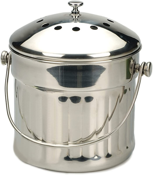 Stainless Steel Compost Pail - 1.5 Gallon