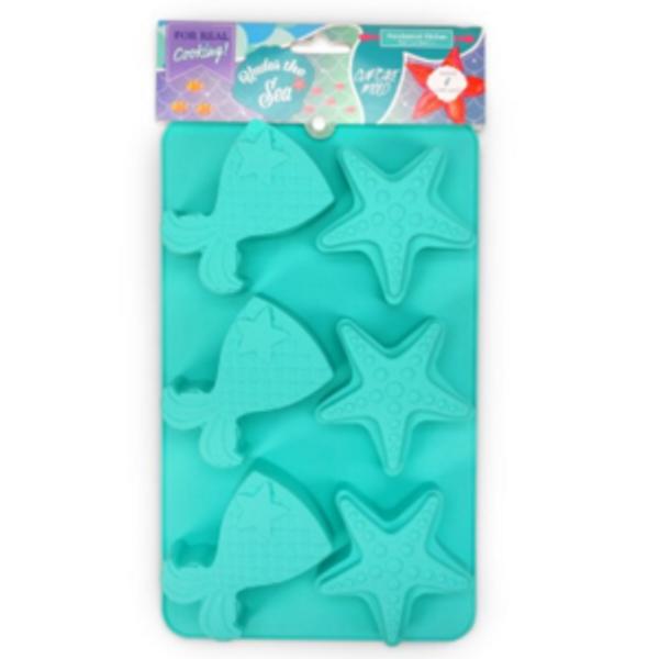 Mermaid & Starfish Cupcake Mold