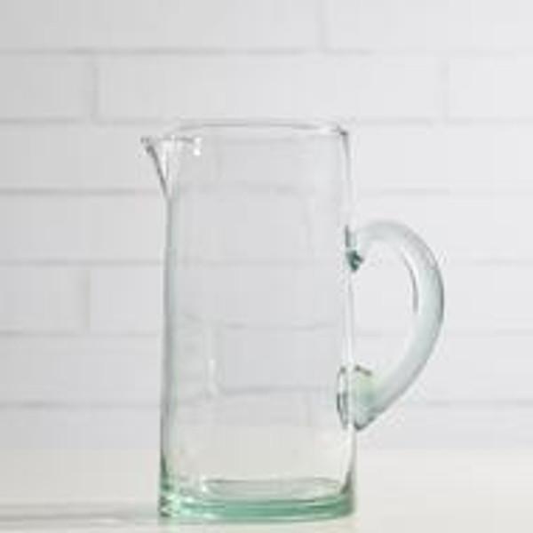 Handblown Glass Pitcher - Clear