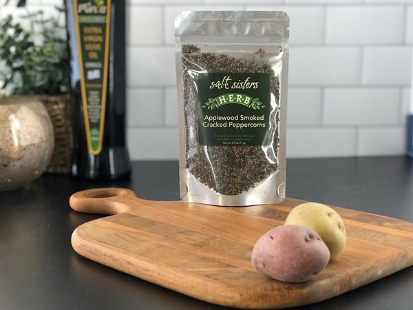 Salt Sisters Applewood Smoked Cracked Peppercorns