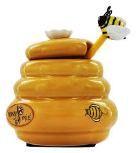 Mini Beehive Honey Jar with Dipper
