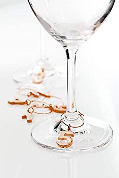 Copper Wine Glass Charms