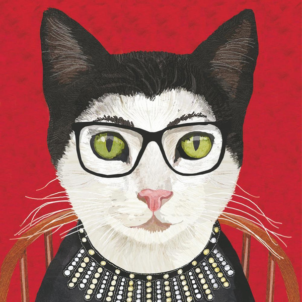 Funny Napkins - RBG Cat