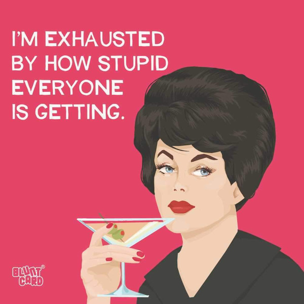 Funny Napkins - I'm Exhausted