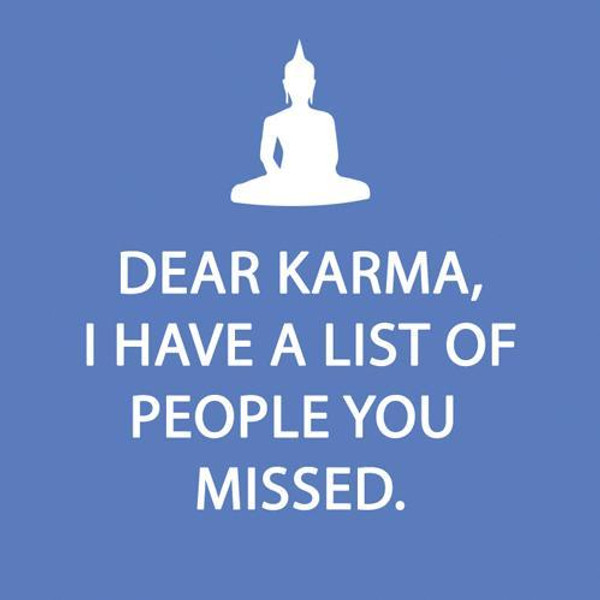 Funny Napkins - Dear Karma