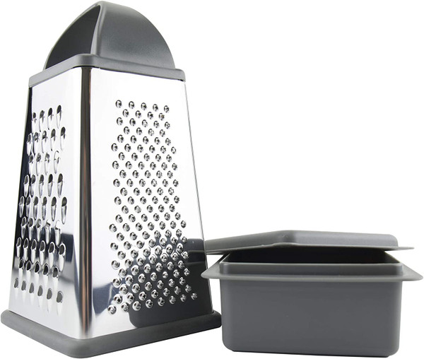 Box Grater with Bowl & Lid