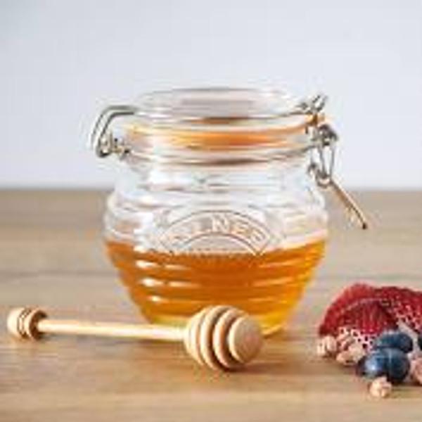 Glass Honey Pot Set