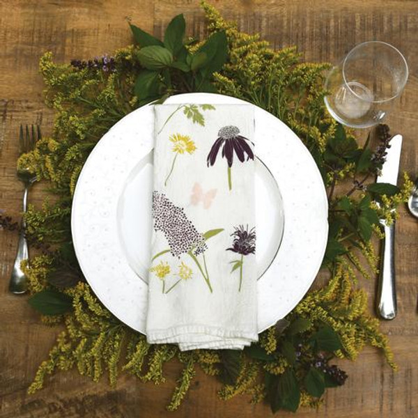 Butterfly Garden Flour Sack Napkin Set