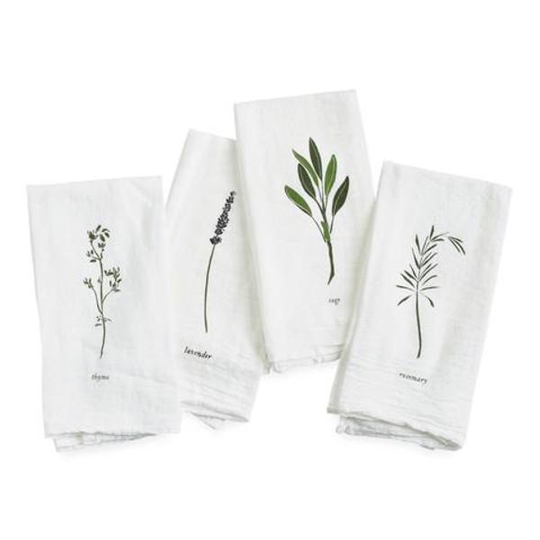 Garden Herb Flour Sack Napkin Set