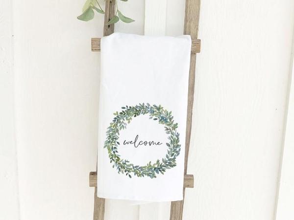 Tea Towel - Welcome Wreath