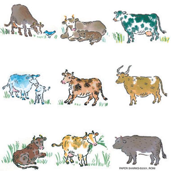 Flour Sack Towel - Cows