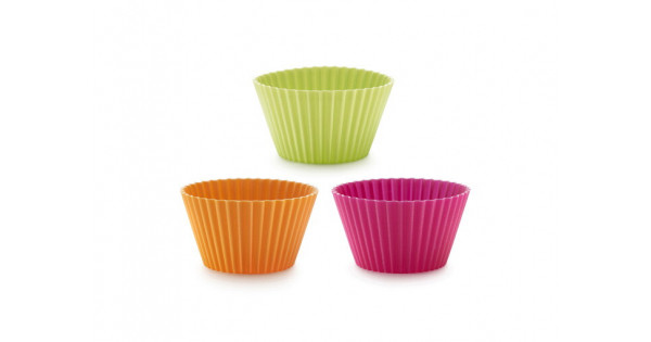 Silicone Jumbo Muffin Cups - Set of 6