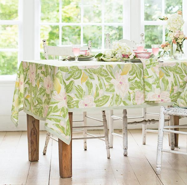 Magnolia Linen Tablecloth