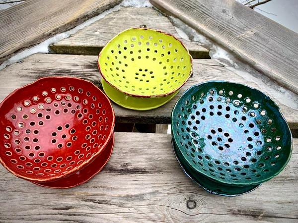 Vermont Artisan Pottery Berry Bowl