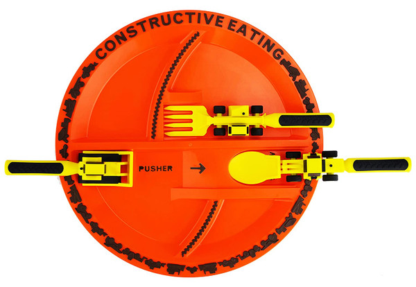 Construction Kids Plate