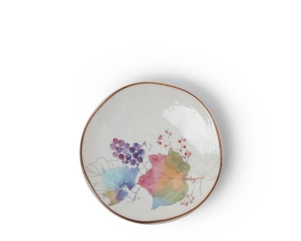 Floral Mini Plate Rainbow Leaves