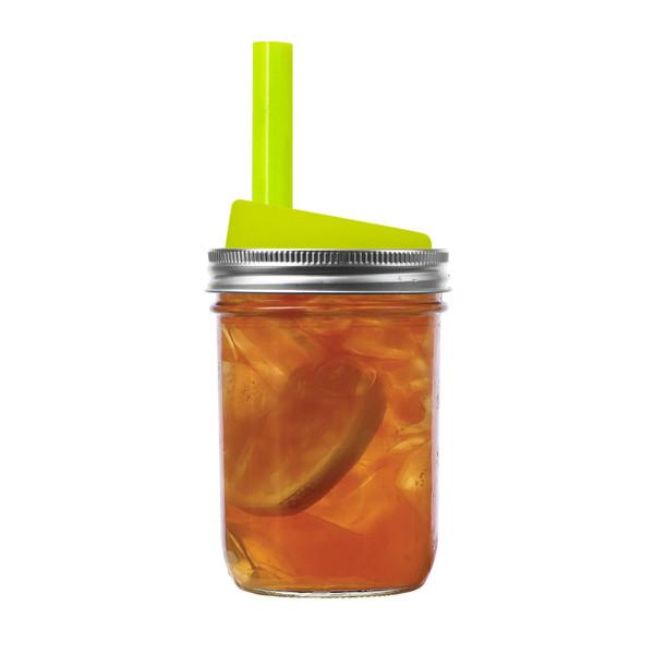 Mason Jar Drink Lids and Straws 4-Pack