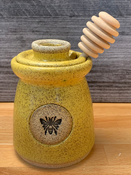 Honey Pots with Lid and Dipper