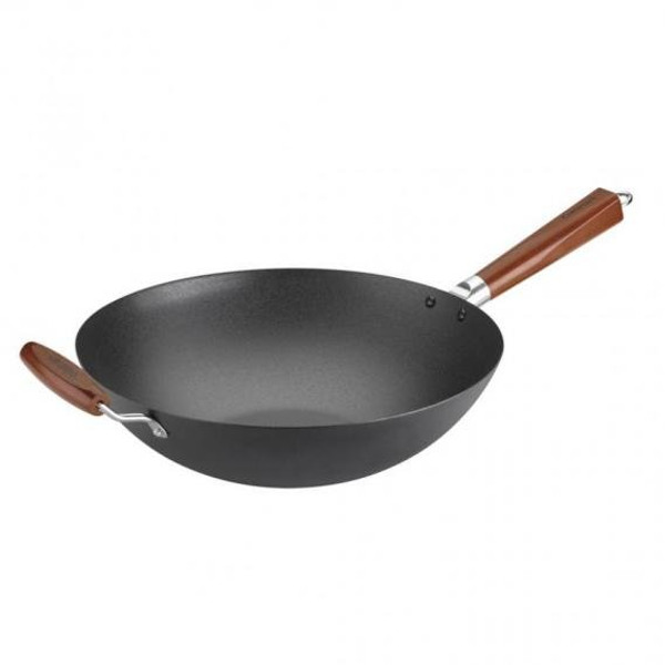 "Cuisinart 14"" Pre-Seasoned Wok with Helper Handle"