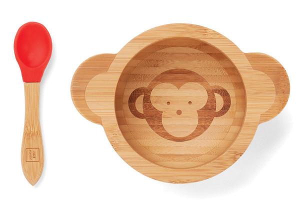 Monkey Set Kids Bowl with Spoon