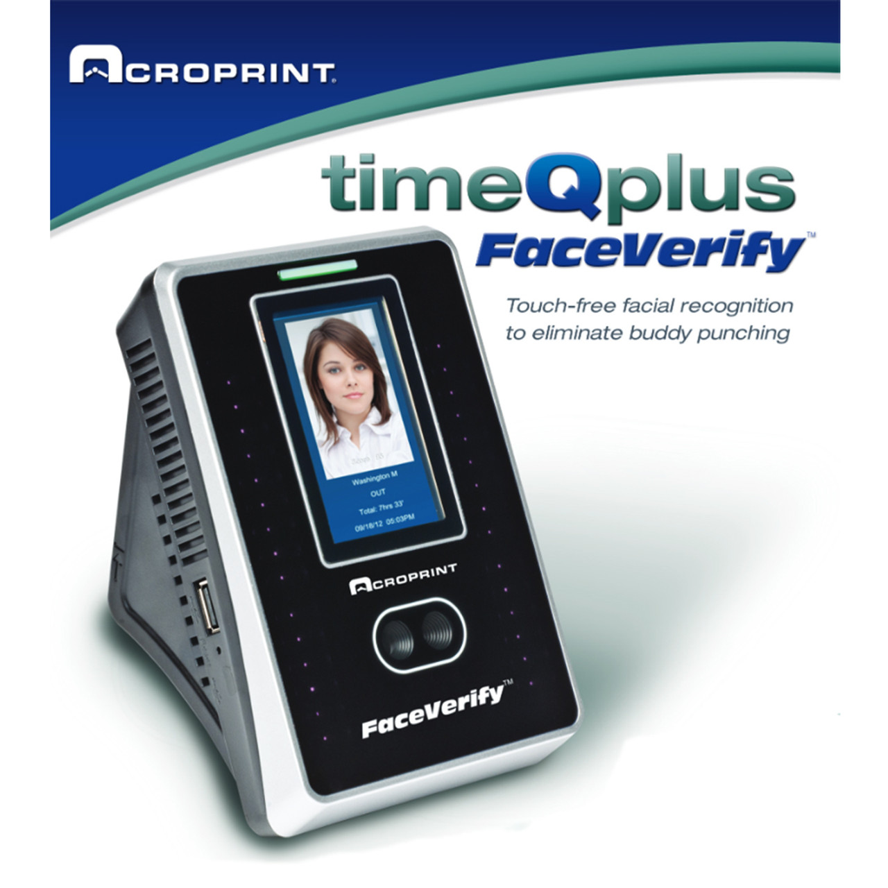 Acroprint TimeQPlus Facial Recognition Time Clock