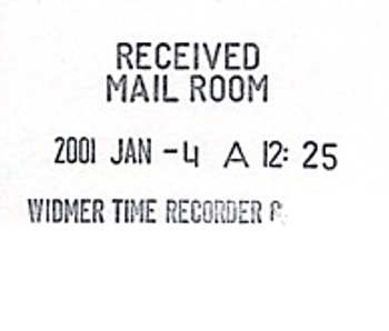 Widmer T-LED-3 Time Stamp Sample Impression