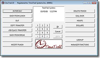 TimeTrak ClocTrak Time & Attendance Software