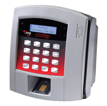 ATS Prodigy Time Clock - Shown with Optional Fingerprint Reader