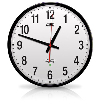 "Lathem 12"" Round Wireless Analog Wall Clock - Discontinued"