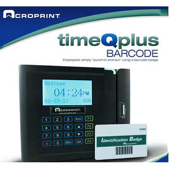 Acroprint TimeQPlus Bar Code System