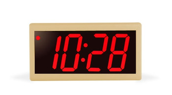 Inova On-Time Wall Clock ONT4DSPT-P Double Sided Wall Clock - Putty with Red LED