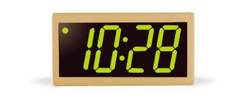 Inova On-Time Wall Clock ONT4PT-P-G Putty Plastic Case with 4 Digit Green LED