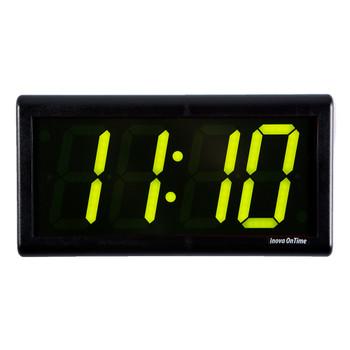 Inova On-Time Wall Clock ONT4DSBK-G Double Sided Wall Clock Green LED