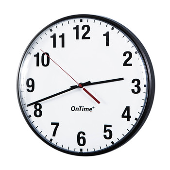 "Inova ONT12-BK On-Time 12"" Analog Clock - Single Sided"