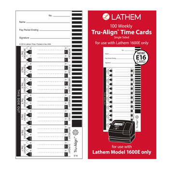 Lathem 1600E Time Cards (100 Pack)