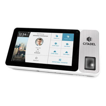Citadel OB3000 Portable Fingerprint, RFID, & Pin Entry Touchscreen Time Clock