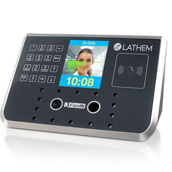 Lathem FR700 Facial Recognition Time Clock with Badge Reader for Payclock Online - DISCONTINUED