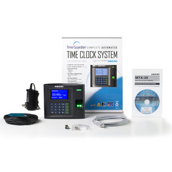 Amano Time Guardian Software and MTX-30 Fingerprint Biometric Time Clock