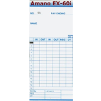Amano EX60I Time Cards