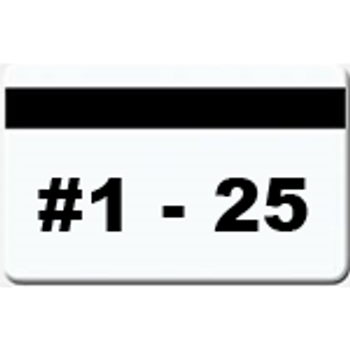 25 Magnetic Stripe Badges (#1 - 25)