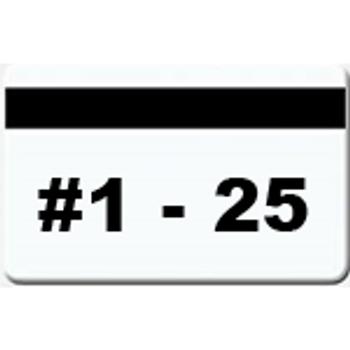 25 Magnetic Stripe Badges (#1 - 25)