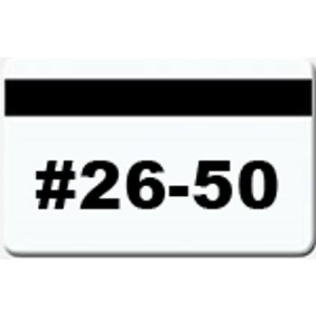25 Magnetic Stripe Badges (#26 - 50)