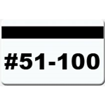 50 Magnetic Stripe Badges (#51 - 100)
