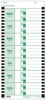 Lathem 800P Time Cards (100 Pack)